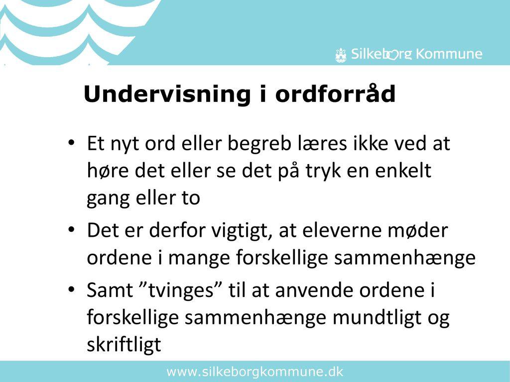 Undervisning i ordforråd