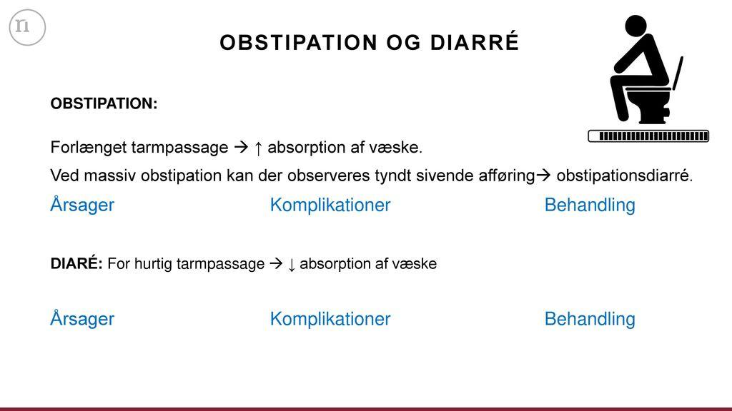 Obstipation og diarré Årsager Komplikationer Behandling