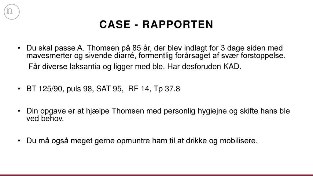 CASE - RAPPORTEN