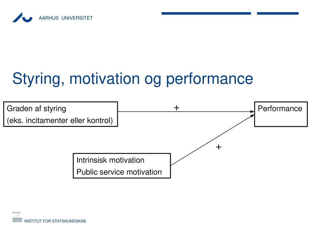 motivation and performance 1 motivation, incentives and performance in the public sector agnès festré gredeg 250 avenue albert einstein 0650 valbonne france festre@gredegcnrsfr.