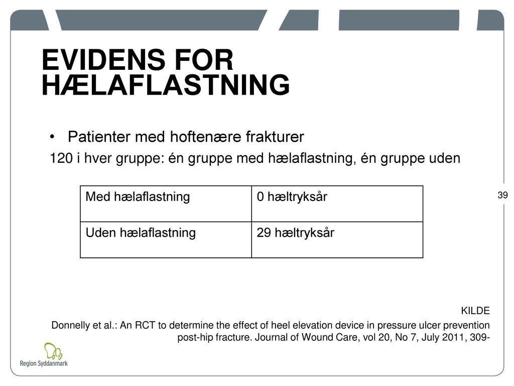 EVIDENS FOR HÆLAFLASTNING