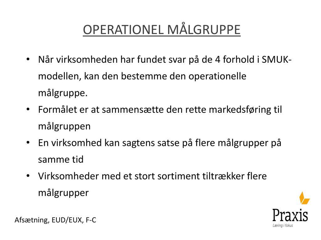 Operationel målgruppe