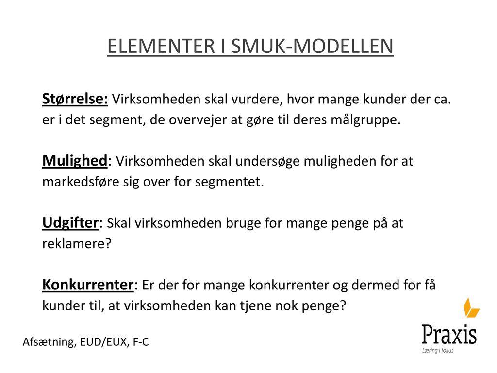 Elementer i smuk-modellen