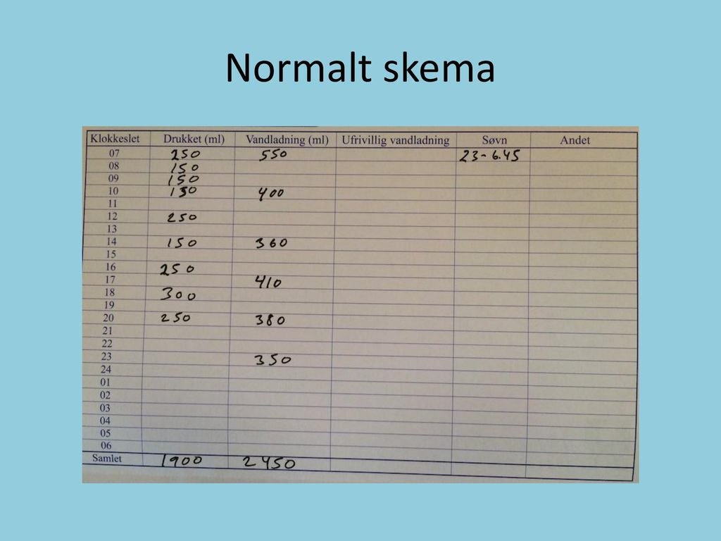 Normalt skema