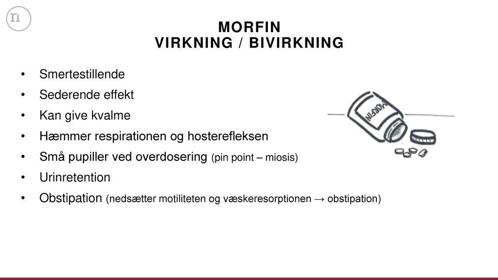 bivirkninger ved morfin