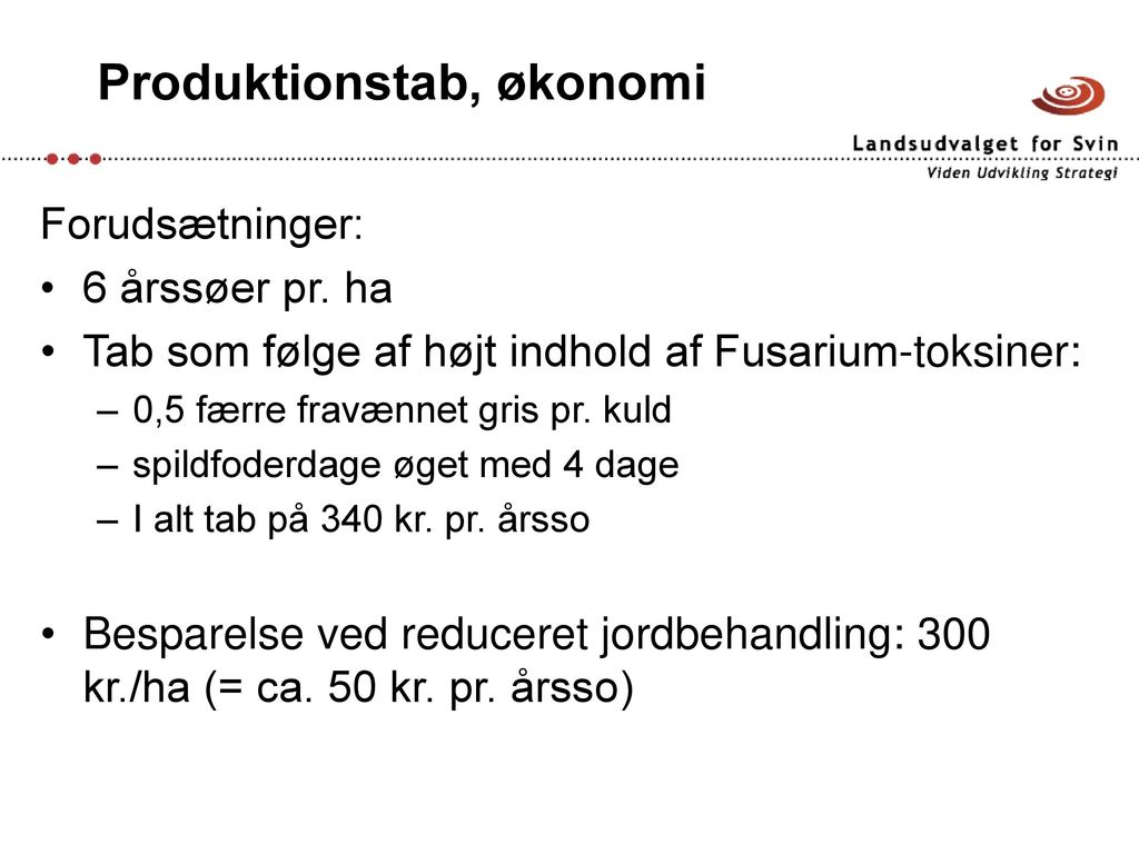 Hvor giftige er Fusarium-toksiner for grise? - ppt download