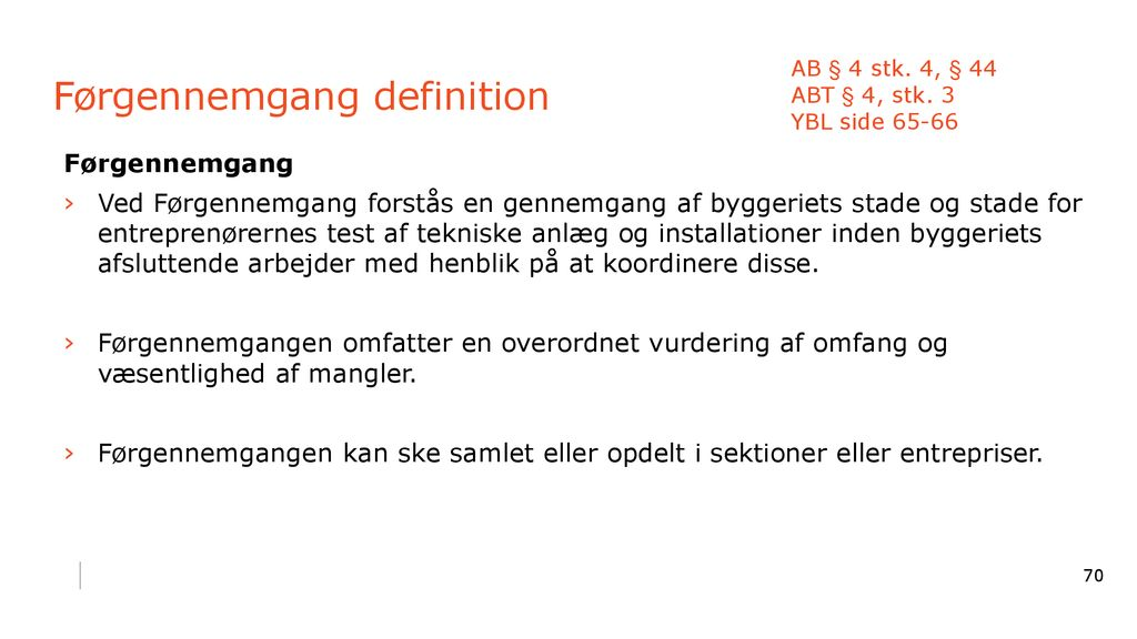 Førgennemgang definition