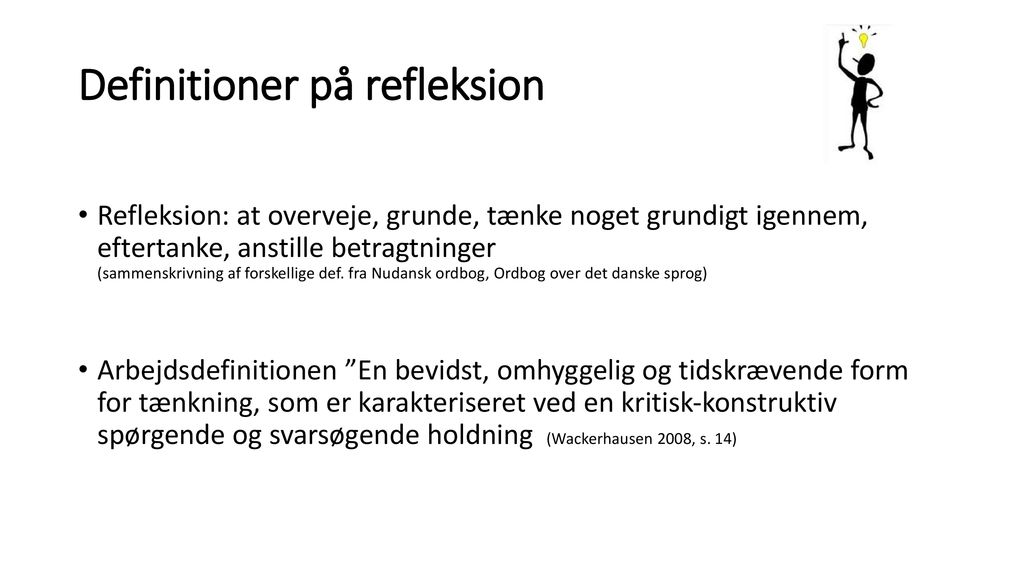 Definitioner på refleksion