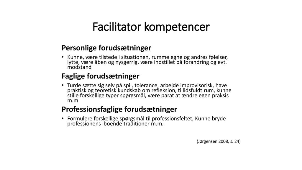 Facilitator kompetencer