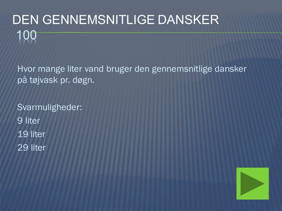 Den gennemsnitlige dansker 100
