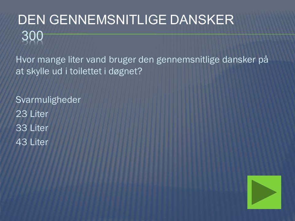 Den gennemsnitlige dansker 300