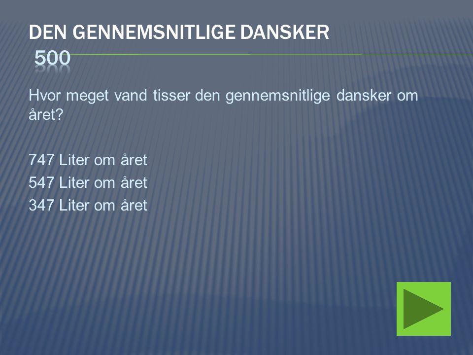 Den gennemsnitlige dansker 500