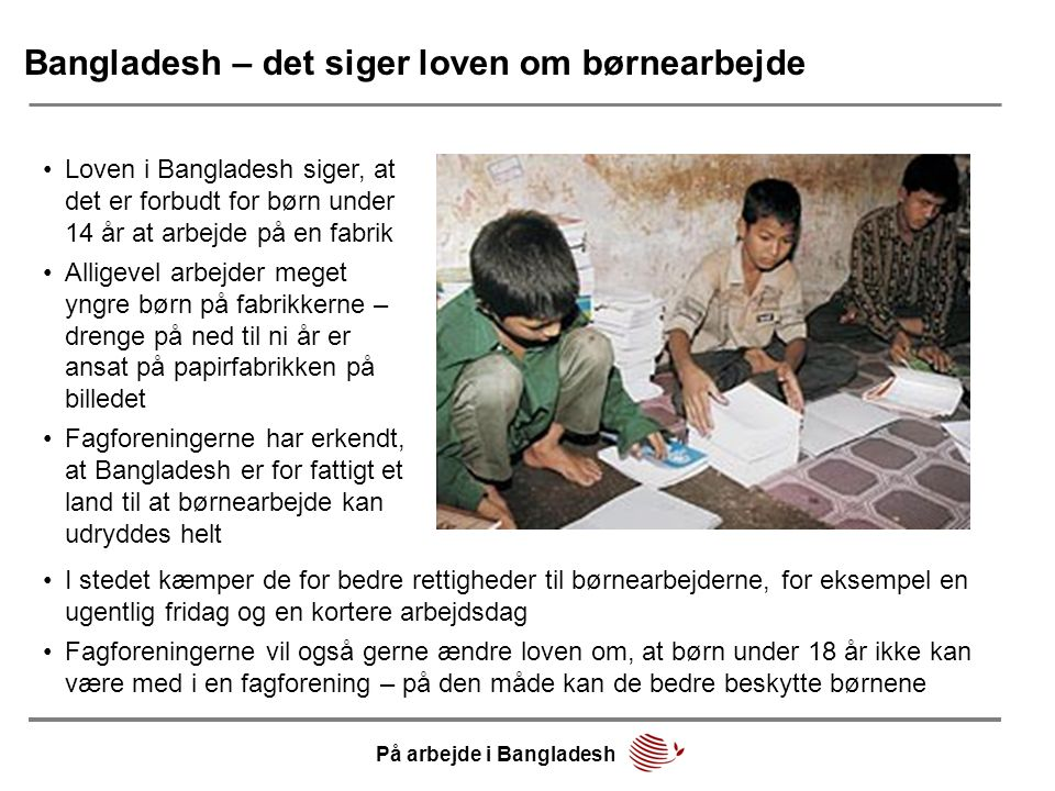 Bangladesh – det siger loven om børnearbejde