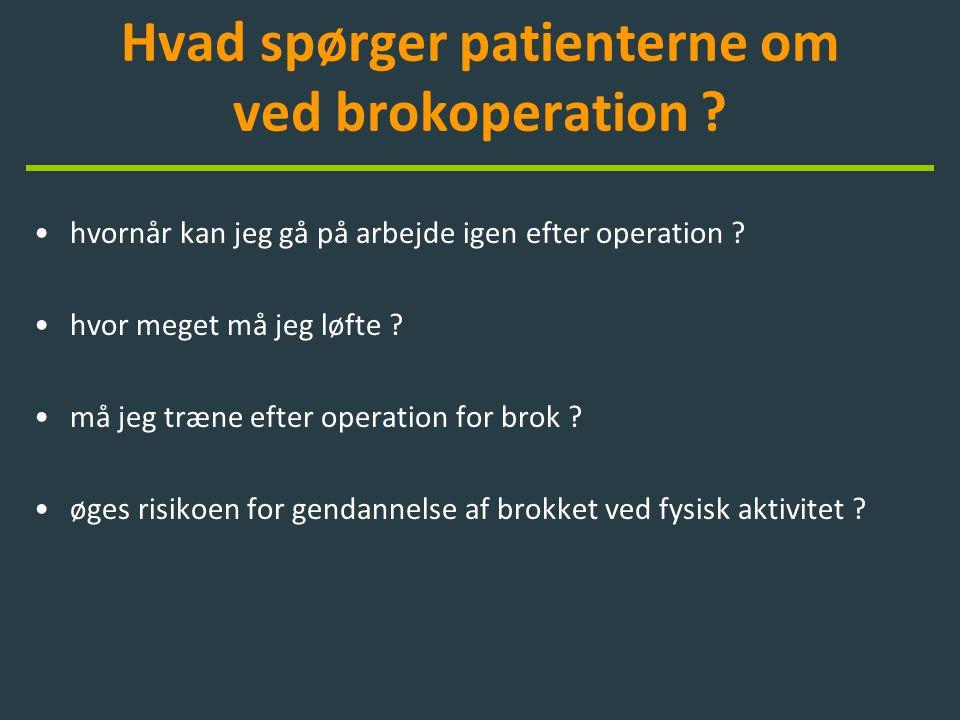 Hvad spørger patienterne om ved brokoperation