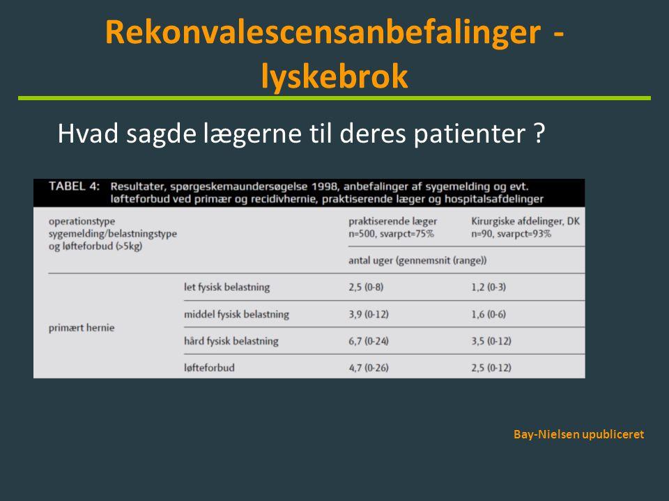 Rekonvalescensanbefalinger - lyskebrok