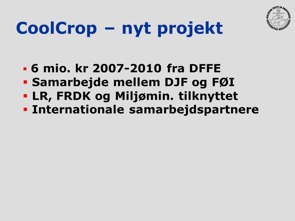 CoolCrop – nyt projekt Samarbejde mellem DJF og FØI
