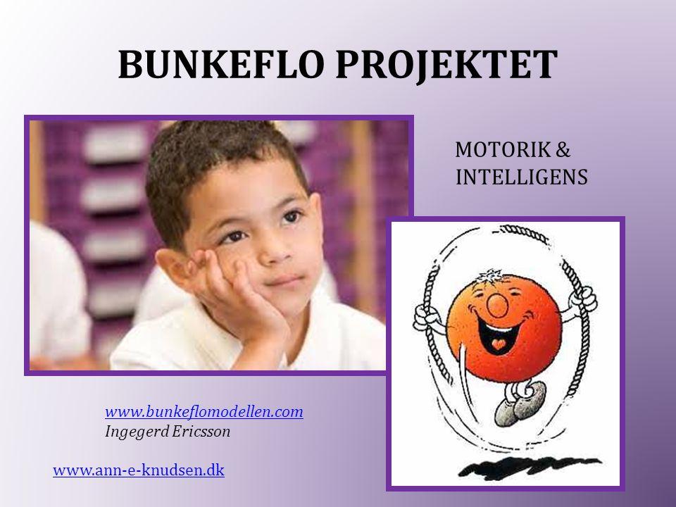 BUNKEFLO PROJEKTET MOTORIK & INTELLIGENS www.bunkeflomodellen.com