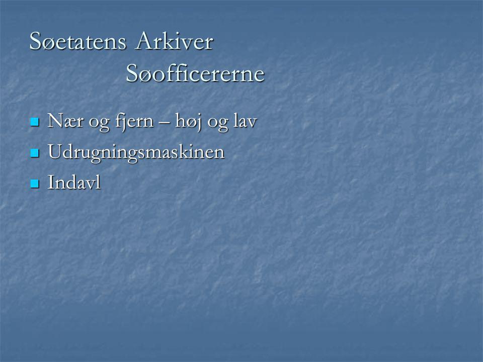 Søetatens Arkiver Søofficererne