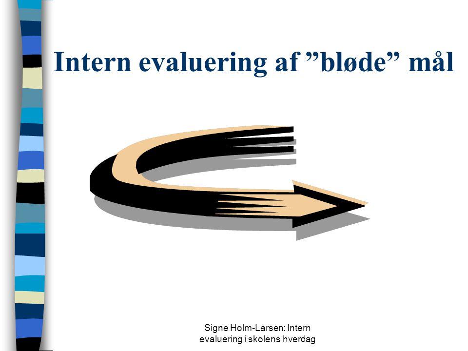 Intern evaluering af bløde mål