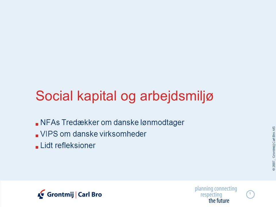 Social kapital og arbejdsmiljø