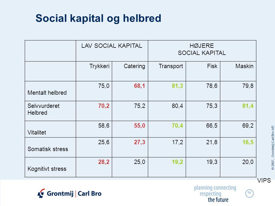 Social kapital og helbred