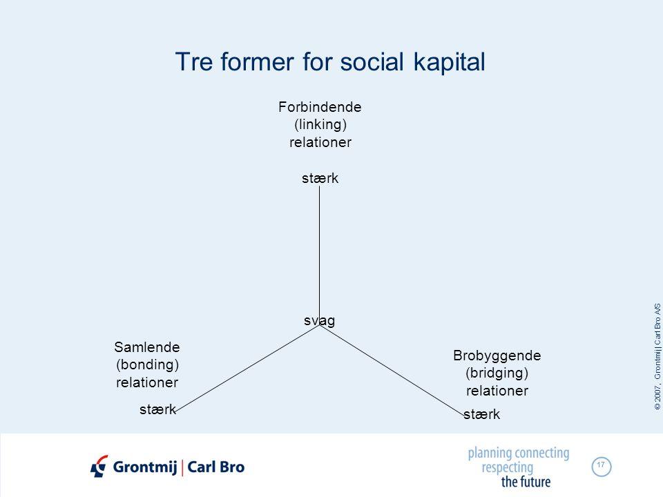 Tre former for social kapital