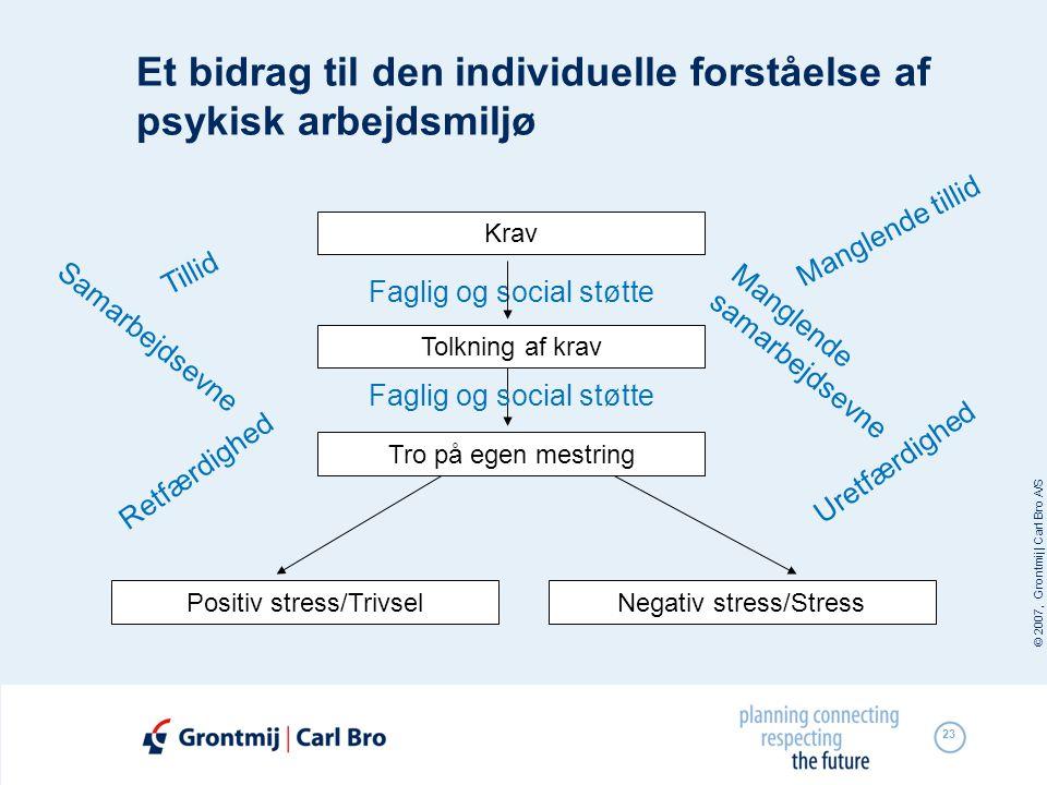 Et bidrag til den individuelle forståelse af psykisk arbejdsmiljø