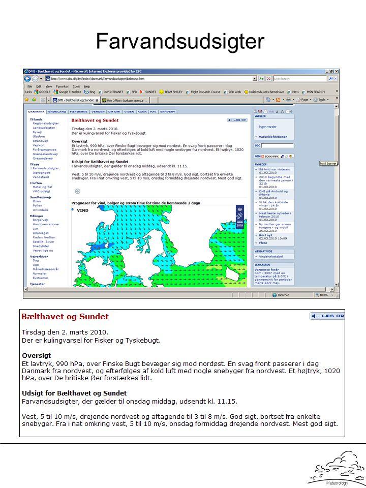 Farvandsudsigter Meteorology