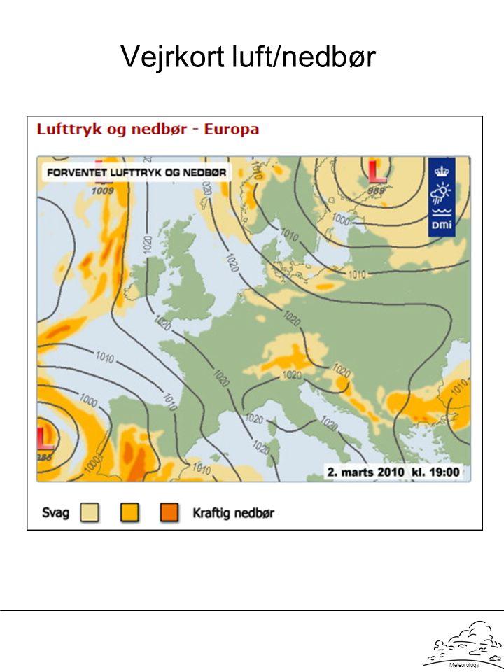 Vejrkort luft/nedbør Meteorology