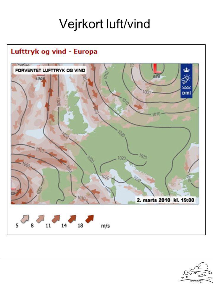 Vejrkort luft/vind Meteorology