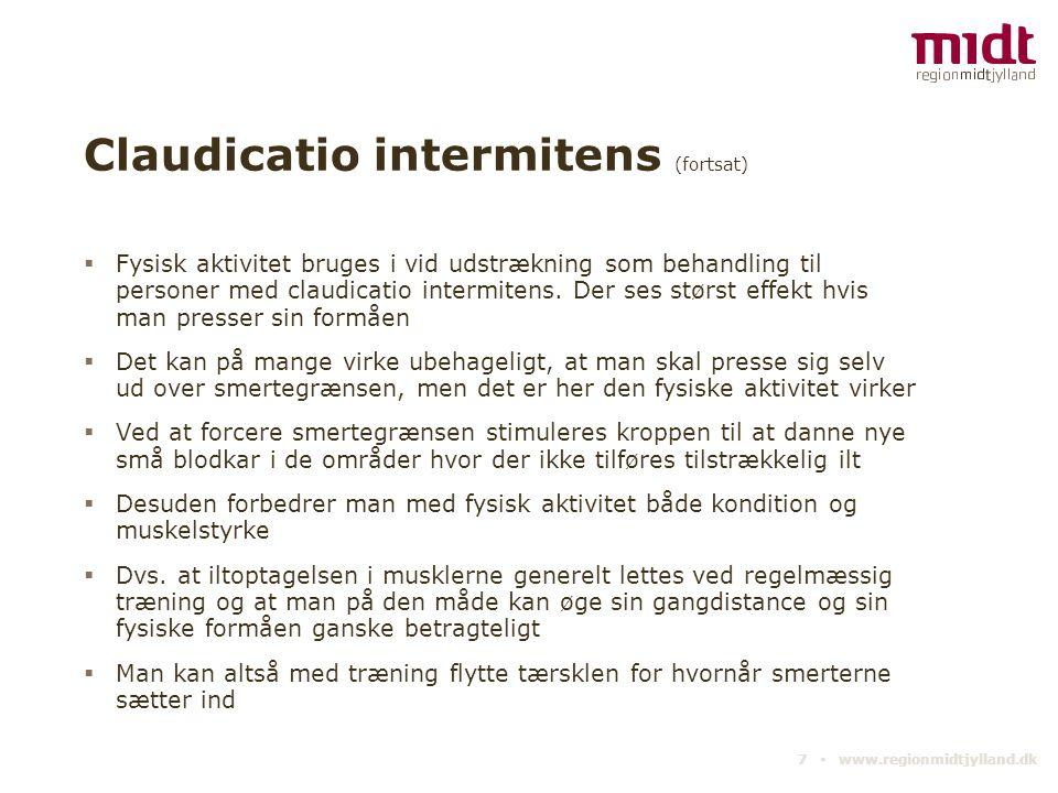 Claudicatio intermitens (fortsat)