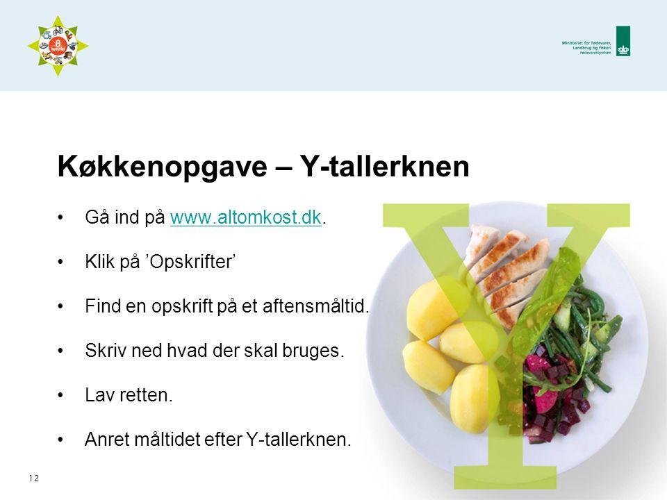 Køkkenopgave – Y-tallerknen