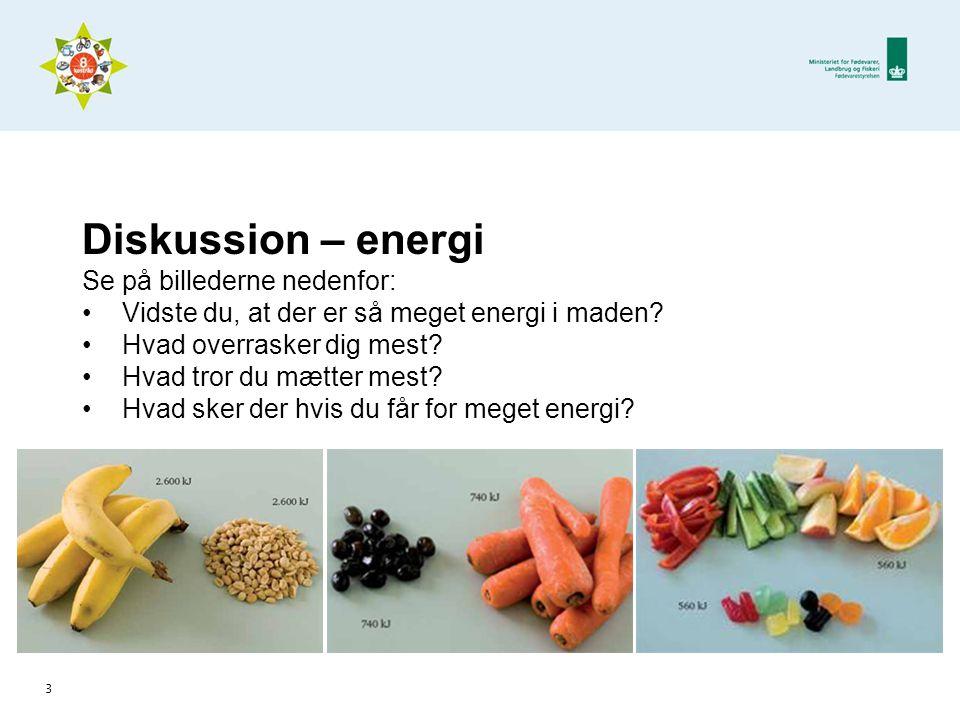 Diskussion – energi Se på billederne nedenfor: