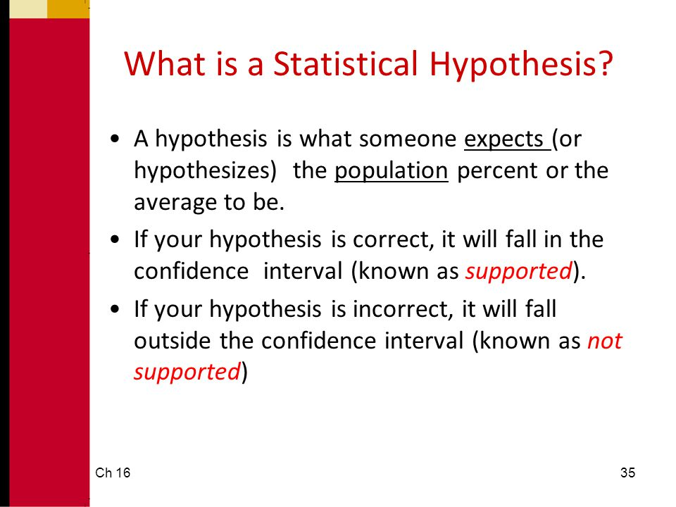 What is a Statistical Hypothesis