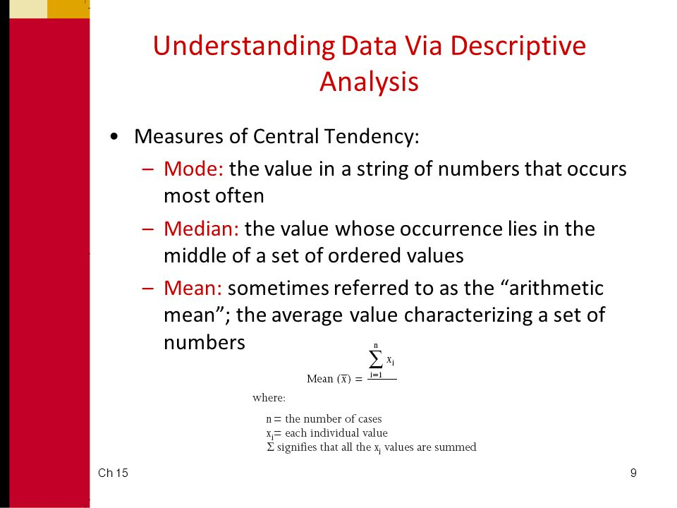 Understanding Data Via Descriptive Analysis