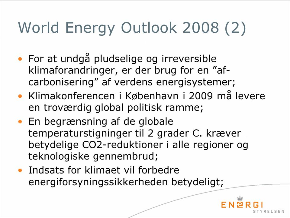 World Energy Outlook 2008 (2)