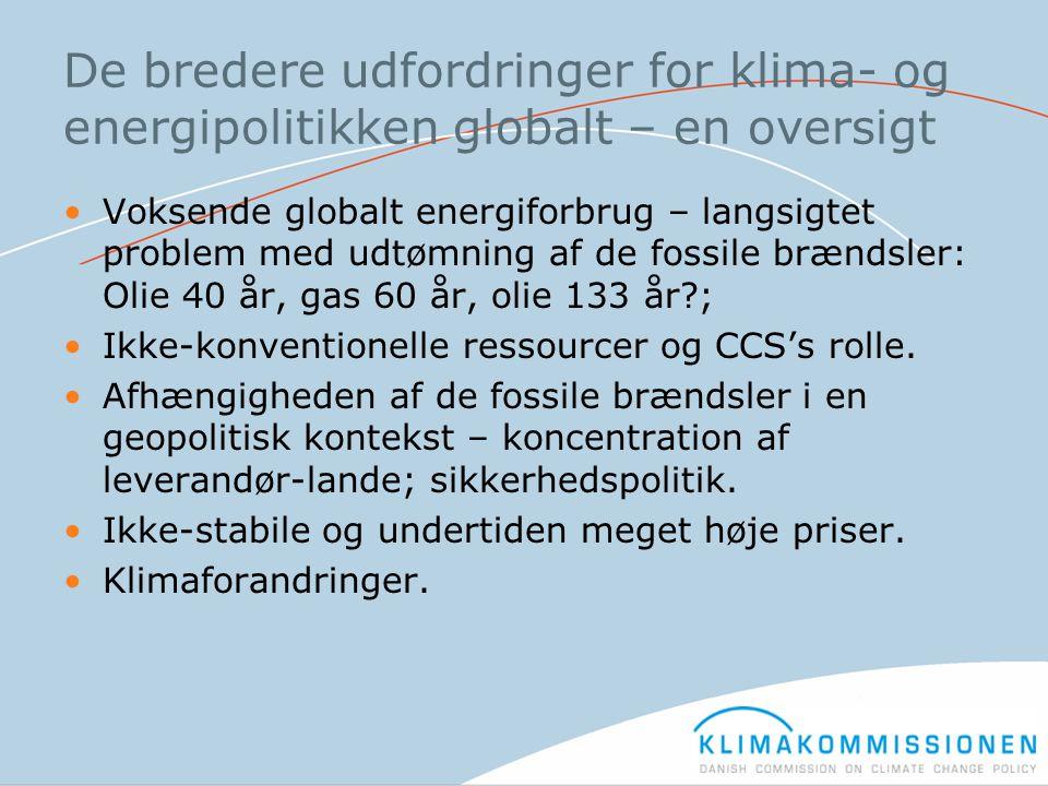 De bredere udfordringer for klima- og energipolitikken globalt – en oversigt