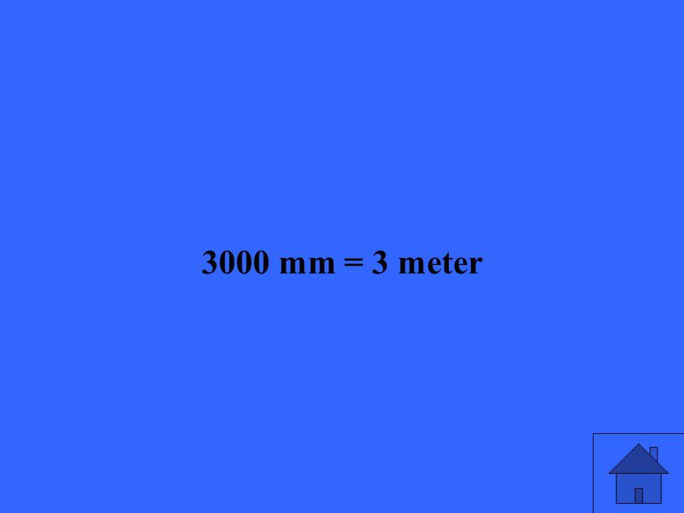 3000 mm = 3 meter