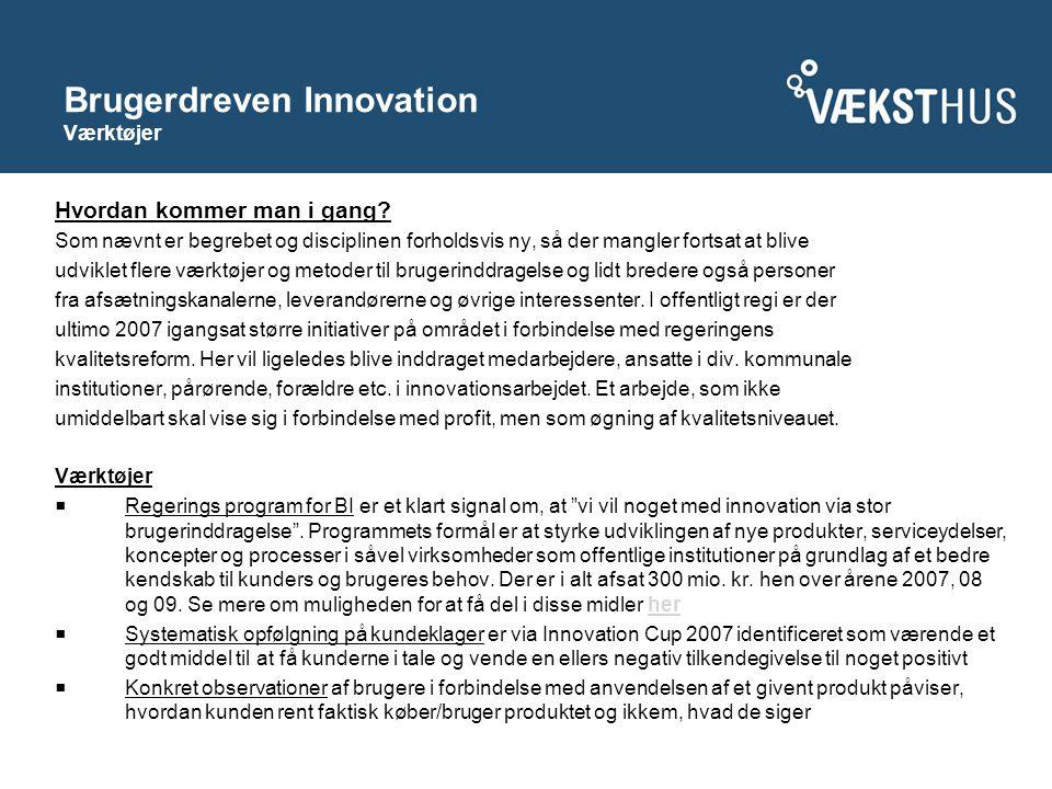 Brugerdreven Innovation Værktøjer