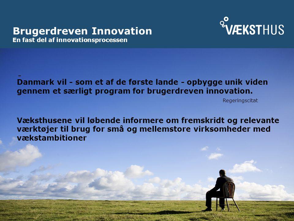 Brugerdreven Innovation En fast del af innovationsprocessen