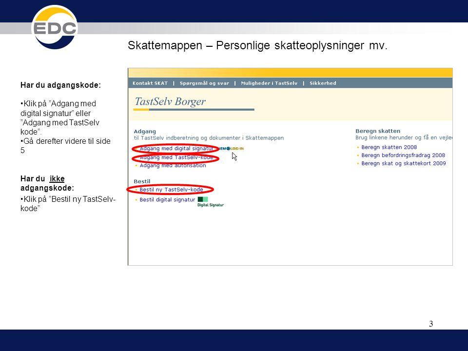 Skattemappen – Personlige skatteoplysninger mv.