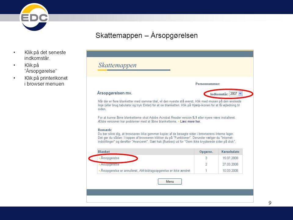 Skattemappen – Årsopgørelsen