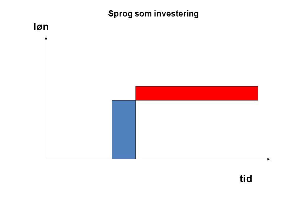 Sprog som investering løn tid