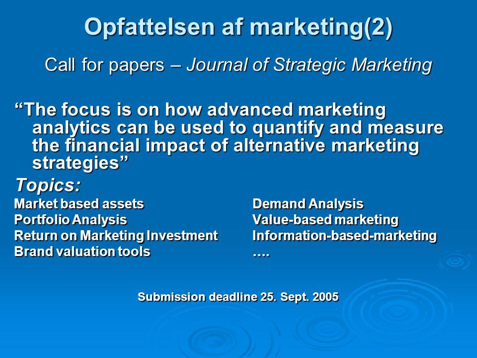 Opfattelsen af marketing(2)