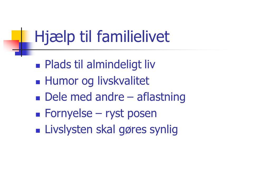 Hjælp til familielivet
