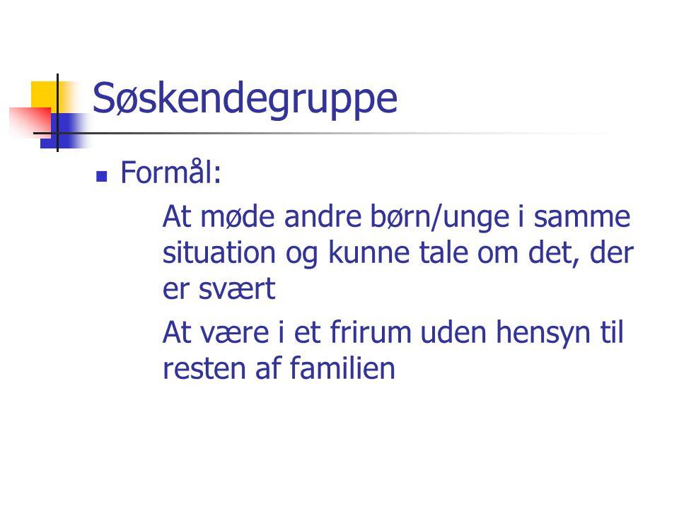 Søskendegruppe Formål:
