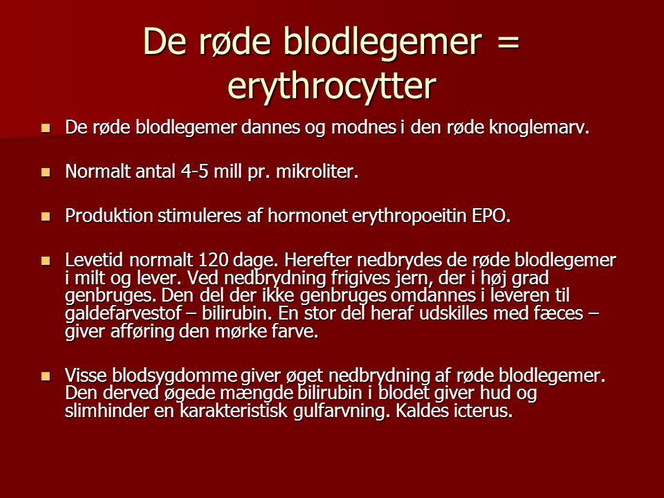 De røde blodlegemer = erythrocytter