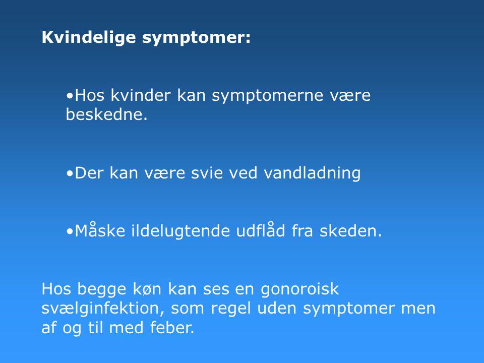 Kvindelige symptomer: