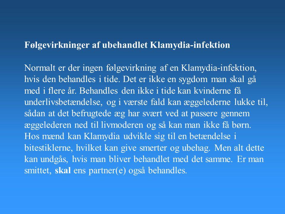 Følgevirkninger af ubehandlet Klamydia-infektion