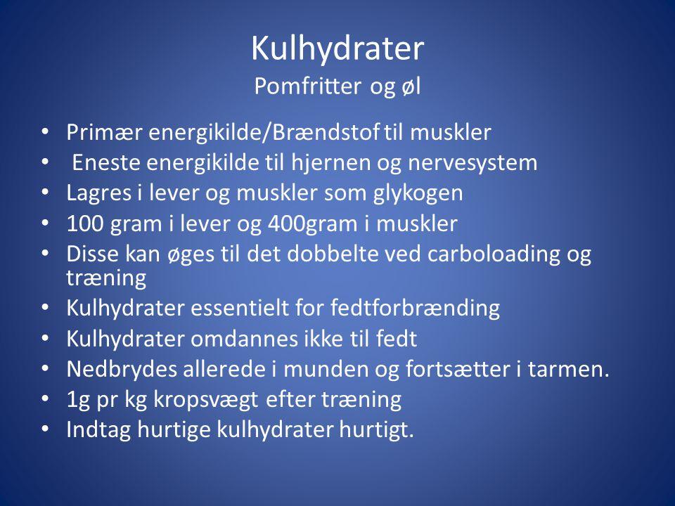 Kulhydrater Pomfritter og øl
